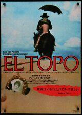 "EL TOPO unfolded 20""x28"" Japanese poster Alejandro Jodorowsky Filmartgallery"