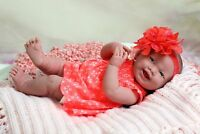 "Baby Girl Smiling Soft Doll Realistic Reborn Berenguer 15"" Vinyl Lifelike Alive"