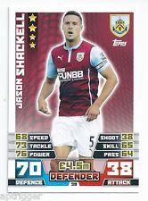 2014 / 2015 EPL Match Attax Base Card (39) Jason SHACKELL Burnley