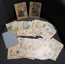 CARTES A JOUER rare ancien jeu de 54 cartes illustrées divinatoire cartomancie