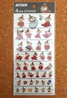 Moomin 4 Size Sticker Sheet Little My & Hattifattener Nordic