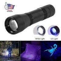UV Ultra Violet LED Flashlight Blacklight Light 365 nM Inspection Lamp Torch US