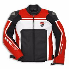 DUCATI Motorbike Custom Leather Jacket With Safety Pads Full Protection