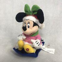 Disney Christmas Minnie Mouse Sled Musical Animated Plush Sledding