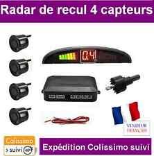 RADAR DE RECUL VOITURE 4 CAPTEURS NOIR AVEC ECRAN LED + BIPER intégré