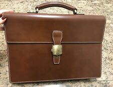 Alfred Dunhill Brown Leather Briefcase NWOT