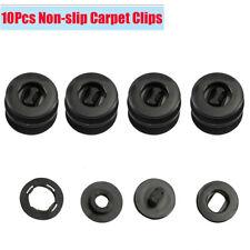 10Pcs Black Car Floor Mat Carpet Fixing Clips Grips Clamps Fasteners Anti-Slip