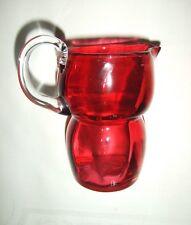 Shapely Vintage Ruby / Cranberry Glass Jug