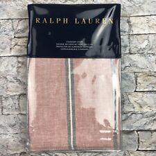 Ralph Lauren Oakview Standard Pillow Sham Essex Red NEW
