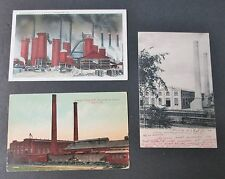 LEHIGH VALLEY RAILROAD POWER HOUSE & TENN COAL IRON & RAILROAD Co FURNACE 3 PCs