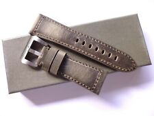 26/22mm Vintage Brown leather band - 26mm Strap Panerai style