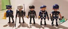 Playmobil 5 Figuren - Polizei Police Policía Streifen & Verkehrspolizisten City