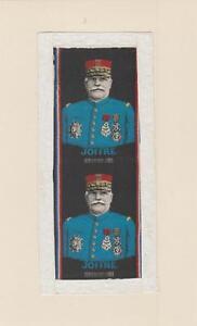 ancienne soie couleurs tissée représentant Joffre