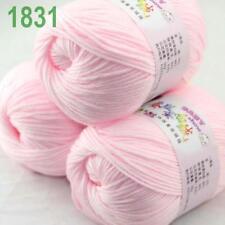 Sale lot 3 Skeins x50g Cashmere Silk Wool Children Hand Knitting Crochet Yarn 31