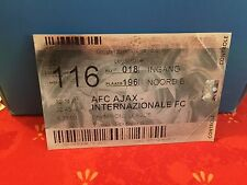 Football Ticket - AFC Ajax - Internazionale FC - Champions League 2002