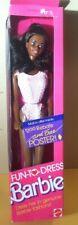 1988 Mattel Fun To Dress Black Barbie Doll  in Pink Swimsuit NOS NRFB