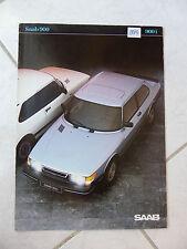Saab 900 900i 1983 - catalogue brochure dépliant prospekt