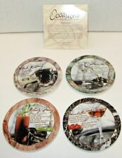 Occasions Absorbent Coasters Barware Collections V9005 Set of Four 2004 Gently U