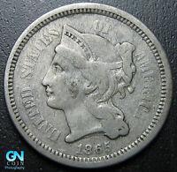 1865 3 Cent Nickel Piece  --  MAKE US AN OFFER!  #G7309