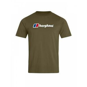 BERGHAUS Mens Organic Big Logo T-Shirt (Ivy)