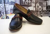 ALLEN EDMONDS Men's Newcomb BRAIDED TRIM Black Brown Loafers,US 10.5  , Made USA