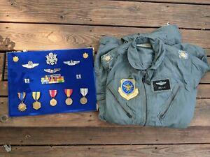 1966 Vietnam Era Flight Suit USAF K-2B Full rank insignia,merit named Major