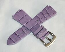 Immersion 20mm Alligator Grain Leather Strap Band PURPLE For Maui Women's Watch
