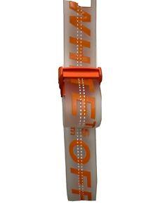 Off White Belt Clear/ Orange