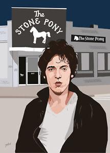 Bruce Springsteen - Stone Pony Boy  - Original (signed) art print - Jarod Art