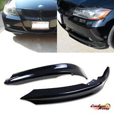 Painted BMW E90 3-Series 4DR OE Front Bumper Lip Splitter 2 Pcs 2008 323i 335i