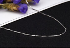 Genuine Pure Solid 925 Sterling Silver BOX Chain Necklace All Sizes Stamped .925