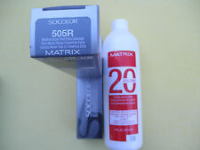 TWO 505R MATRIX SOCOLOR HAIRCOLOR PLUS ONE 16oz DEVELOPER NEW!
