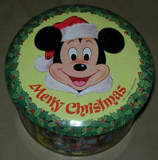 DISNEY  MERRY CHRISTMAS TIN  MICKEY MOUSE  C. 1980'S  WDP  COLLECTORS ED  #1
