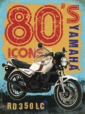Yamaha RD350LC Motorcycle, Motorbike, 80's Retro, Garage, Large Metal Tin Sign