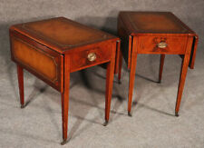 Pair Fine Quality Inlaid Sheraton Style Mahogany Pembroke End Tables C1940s