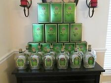 Lot of 12 Empty 1 Liter Crown Royal Apple Whiskey Bottles With Caps and Boxes