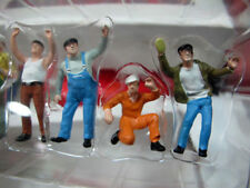 1/50 Scale Colorful Construction Workers Man Labor 6 Figures  Doll Model Toys