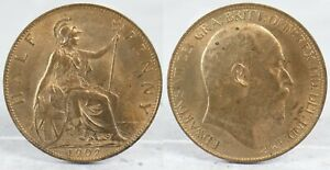 1902 King Edward VI uncirculated half penny coin        |95