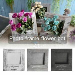 Succulent Photo Frame Indoor Fleshy Flower Green Plant Pot Desktop Home Decor 1X