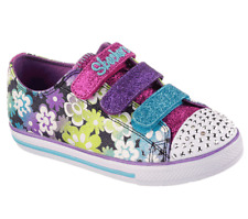 New Girl's Skechers 10480L Twinkle Toes: Chit Chat - Glint And Gleam Size 2 (E16