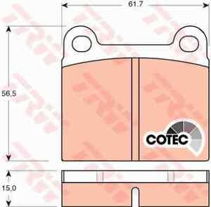 TRW GDB101 Brake Pad Set