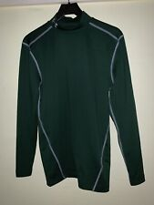 Mens Under Armour Compression Shirt Cold Gear L/S Mock Dark Green Md M
