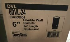 """M&G DURAVENT DVL DOUBLE WALL- 6"""" Wood Stove Pipe- 24"""" Pipe Length 6DVL-24"""