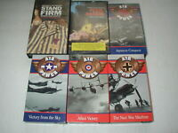 WWII WORLD WAR II DOCUMENTARIES 6 PACK VHS LOT RARE OOP HTF