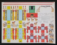 Affiche découpage CIRQUE PINDER 2 chapiteau tente circus poster Zirkus circo