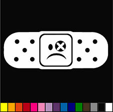 Sad Face Band-Aid Decal Vinyl Bandage cover dents dings funny sticker DRIFT CAR