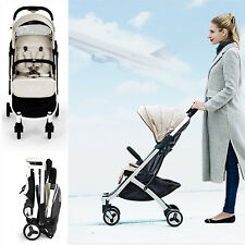 Allis Baby Lightweight Pushchair Travel Buggy Pram Stroller - Beige