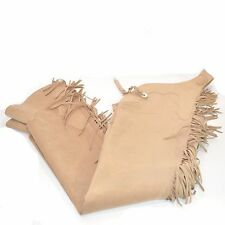USED HOBBY HORSE ULTRA SUEDE FULL CHAPS - TAN - SZ LARGE/LONG #79063