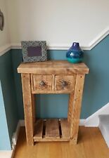 RUSTIC SOLID CONSOLE TABLE / SIDE TABLE WITH DRAWERS - SIZES MADE TO ORDER