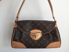 LOUIS VUITTON Beverly MM Shoulder Bag Monogram 100% Genuine
